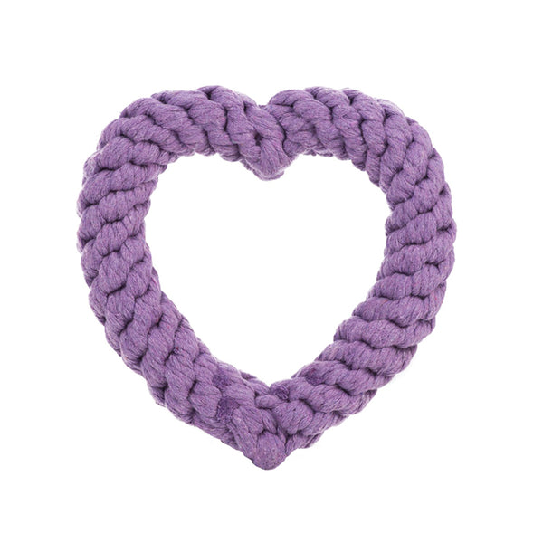 Rope Heart Toy<br>red, pink, or purple