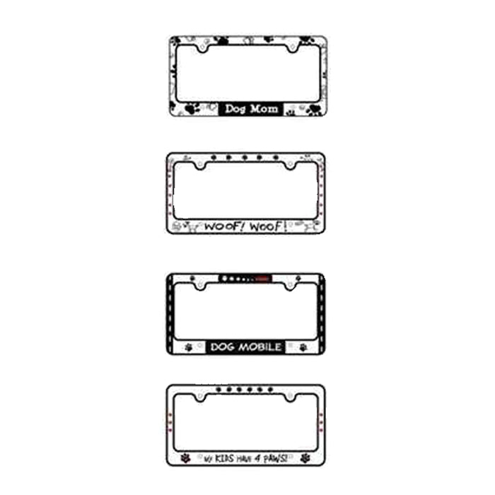 Dog Themed Car License Plate Covers - 4 styles