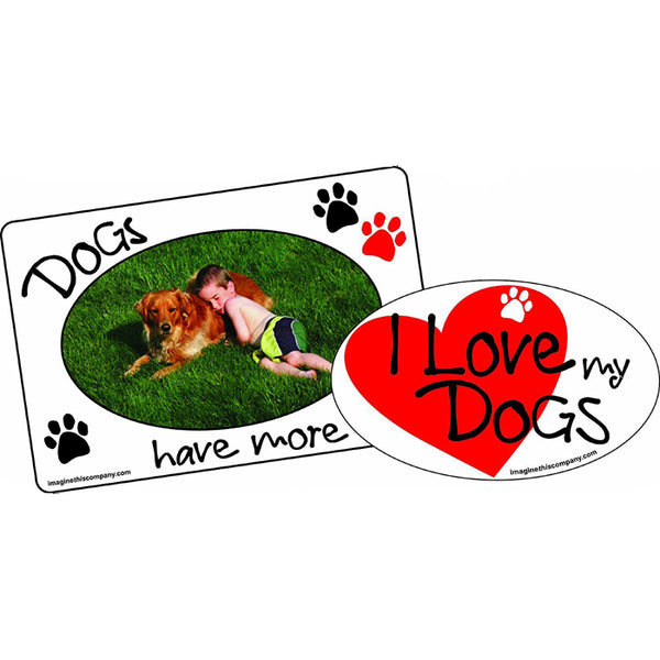 Dog Magnets - 2 in 1 Frame & Magnet Set