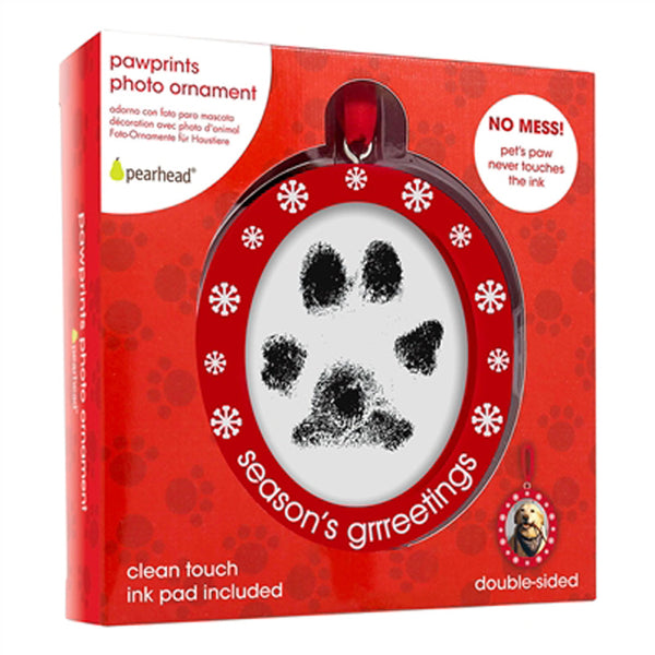 Pawprints Photo Ornament