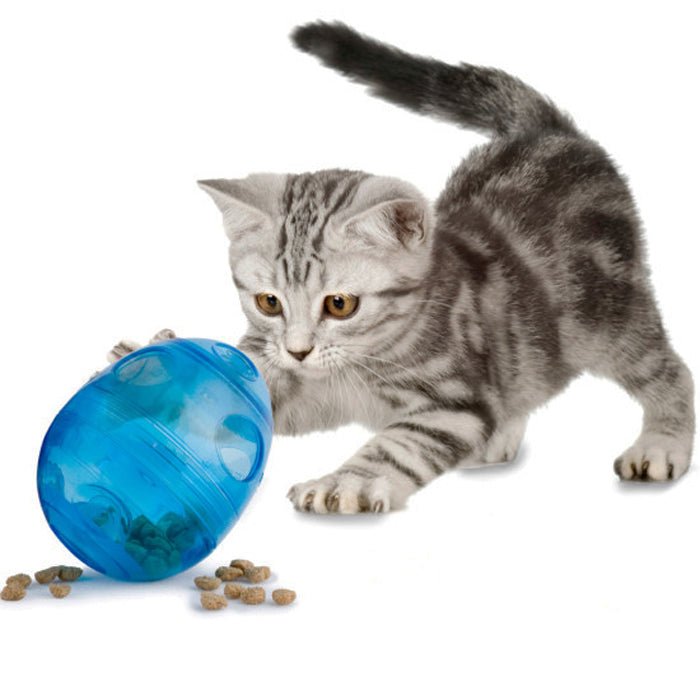 Egg-Cersizer Cat Feeder Toy