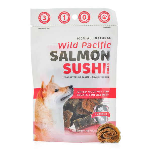 Salmon Sushi Rolls for Dogs