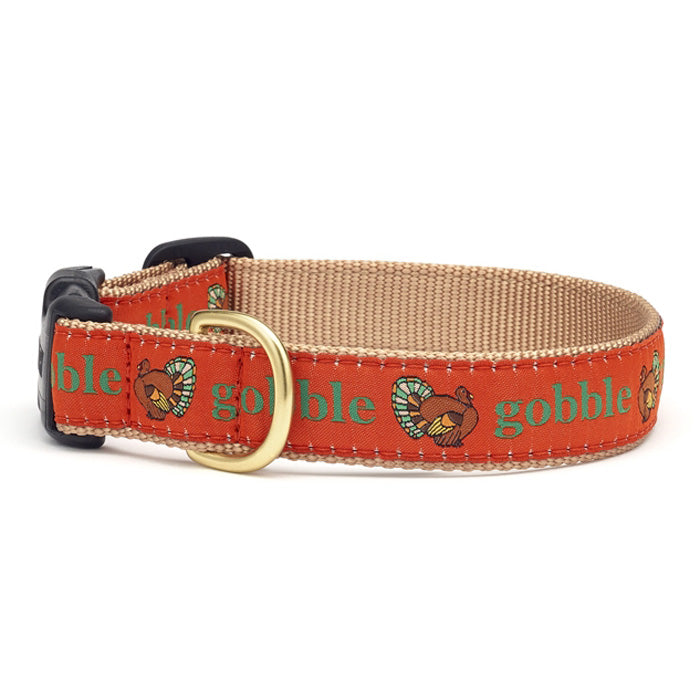 Thanksgiving Gobble Gobble Dog Collar