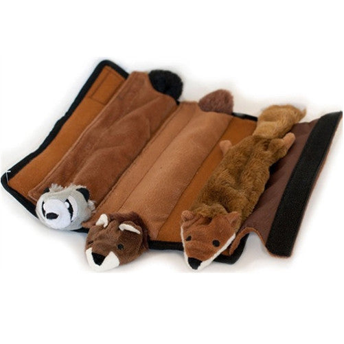 Roll Up Log<br>with 3 Plush Critters