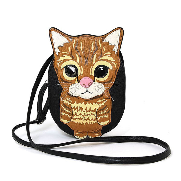 Begging Cat Crossbody Shoulder Bag