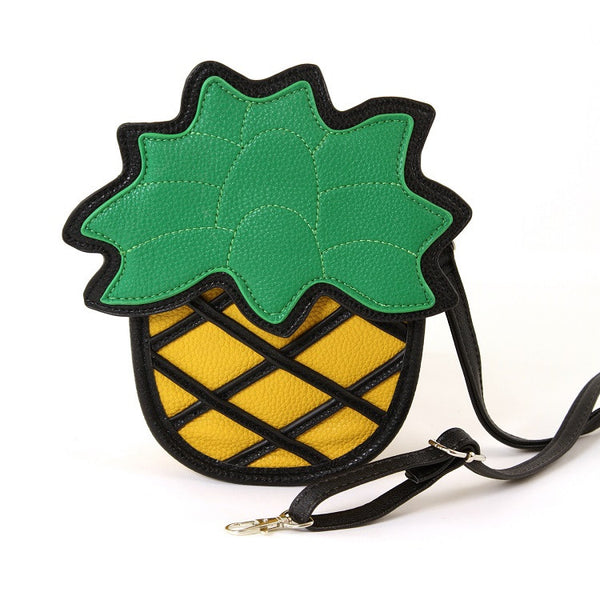 Pineapple Vinyl Shoulder Bag