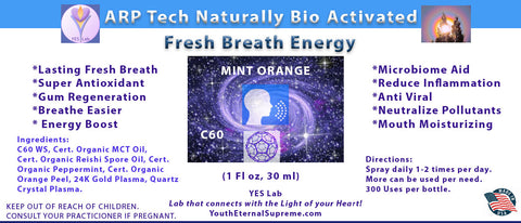 Fresh Breath Energy (C60) Spray  Mint/Orange