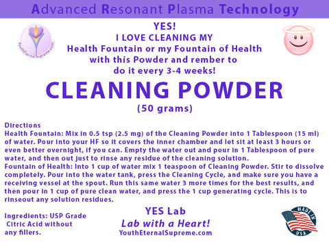 Cleaning Powder for H2 Water Generators (50 grams)