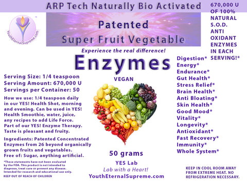 Patented Fruit Enzymes (50 grams)