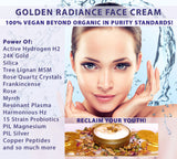 Golden Radiance H2 C60 Fullerene FACE CREAM (60 ml)*Beyond Organic. ALIVE!