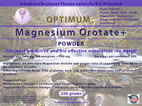 Magnesium Orotate+ (Bio Active) Powder (250 gram)