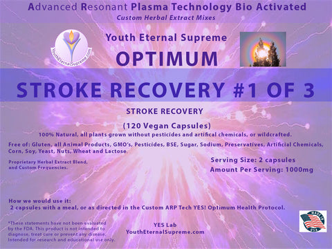 ARP Tech Custom Herbal Optimum STROKE RECOVERY Formula #1 of 3, 120 Vegan Caps