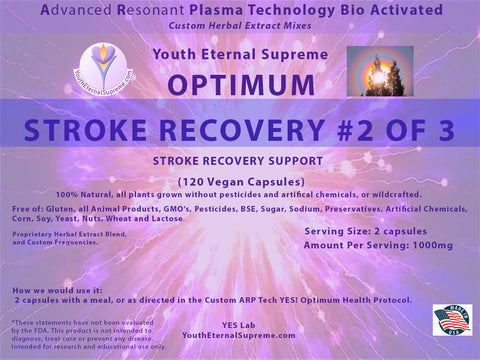 ARP Tech Custom Herbal Optimum STROKE RECOVERY Formula #2,  of 3, 120 Vegan  Caps