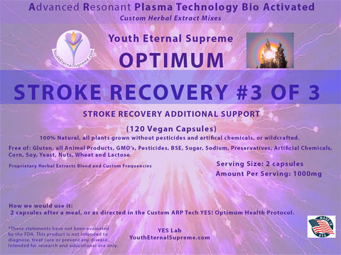 ARP Tech Custom Herbal Optimum STROKE RECOVERY Formula #3 of 3, 120 Vegan Caps