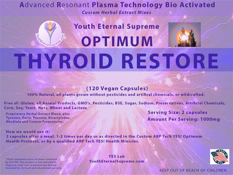 ARP Tech Custom Herbal Optimum THYROID RESTORE, 120 Caps