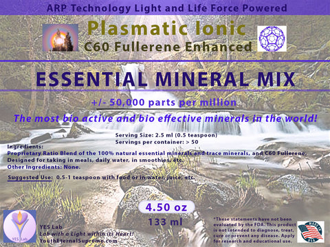 ESSENTIAL MINERALS Mix CONCENTRATE - C60 Fullerene Enhanced (4.50z) 133ml