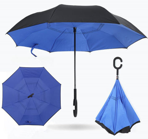 Colorful Folding Double Layer Inverted Umbrella