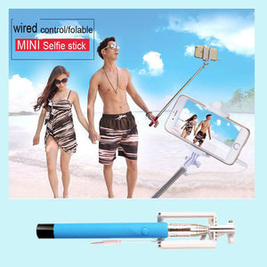 Mini Foldable Selfie Stick For iPhone & Samsung Smartphones