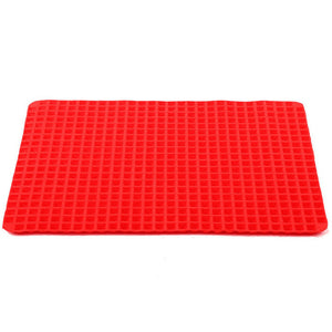 Red Pyramid Nonstick Silicone Baking Mat