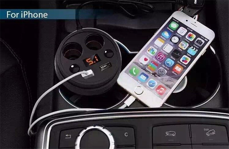 Cup Car Charger With Display Voltage
