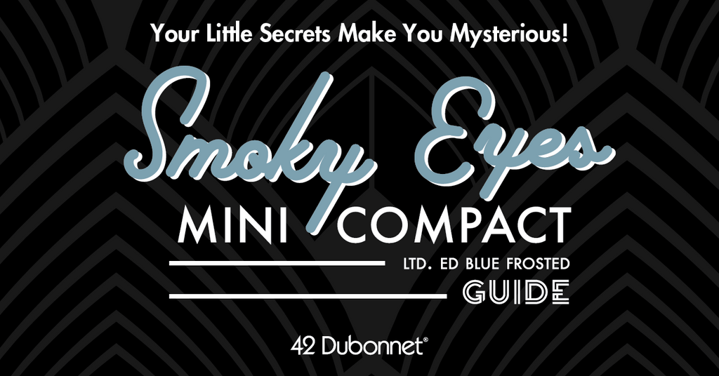 Blue Frosted Smoky Eye Mini Compact Guide