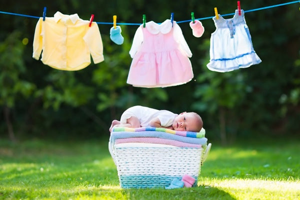 Wash your baby clothes