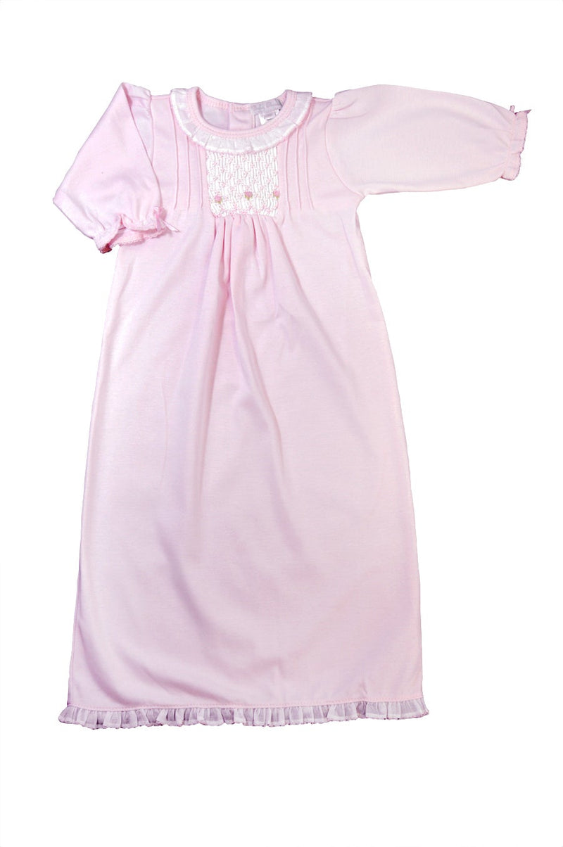 Baby Girl's Pink Hand Smocked Daygown - Little Threads Inc. Children's Clothing