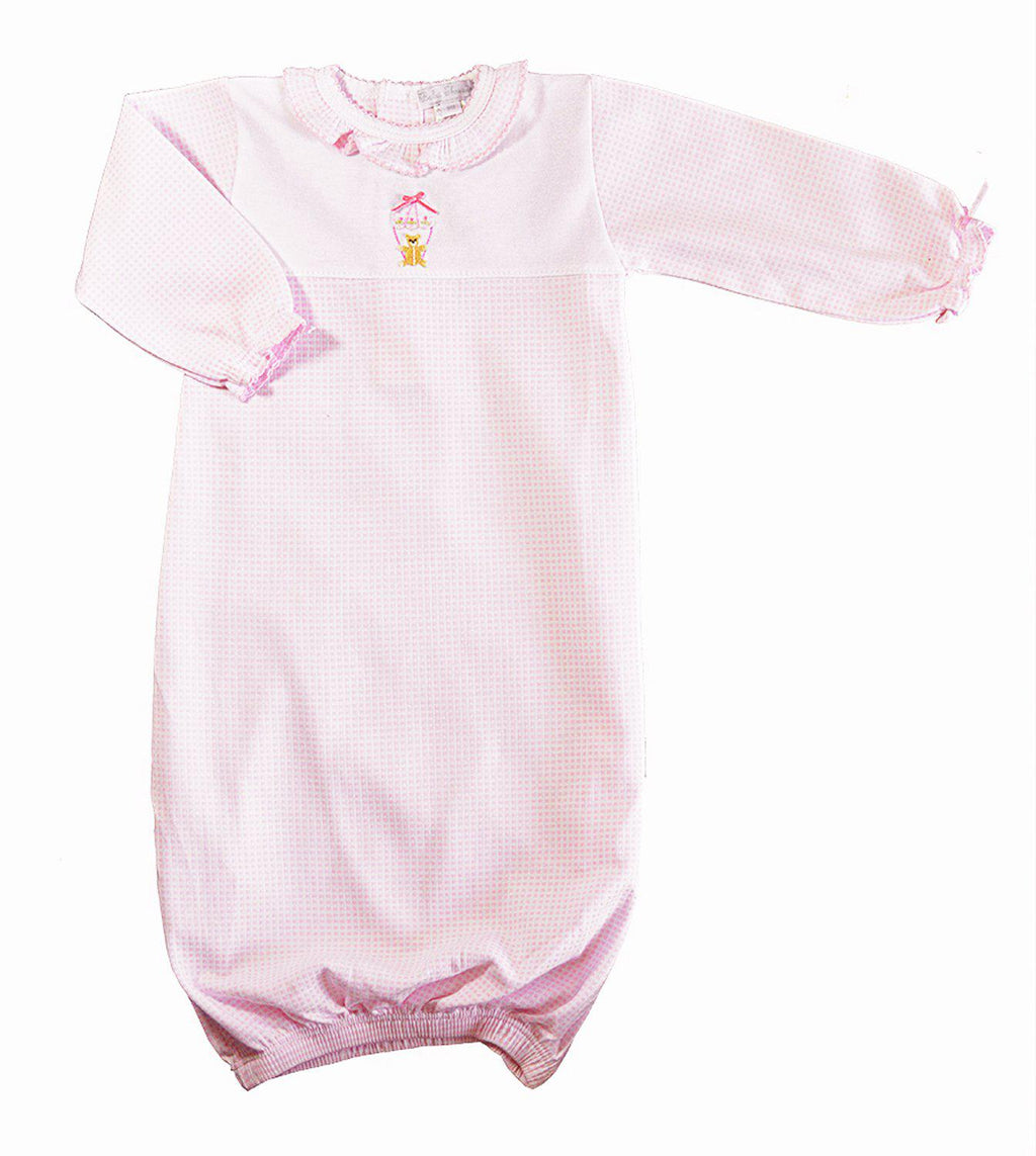 Bear on Balloon Pink Daygown - Little Threads Inc. Children's Clothing