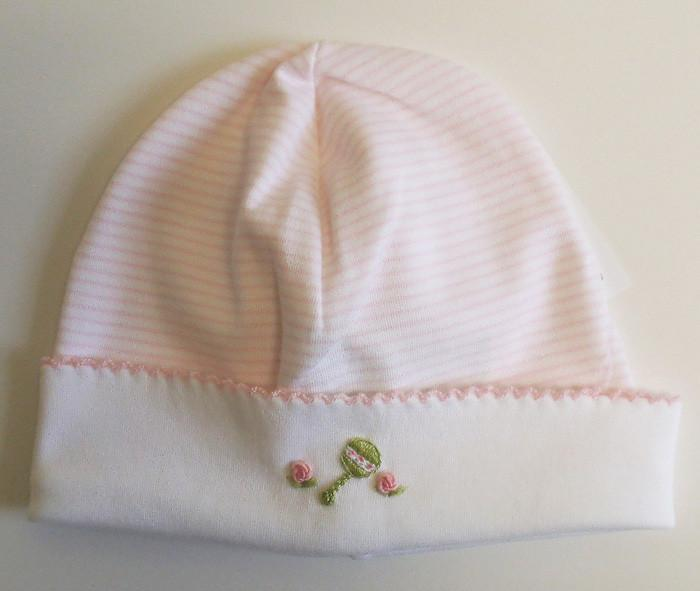 Girls Pink Striped Hat - Little Threads Inc. Children's Clothing