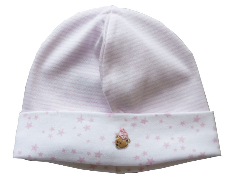 Baby Girl's Pink Bear Hat - Little Threads Inc. Children's Clothing