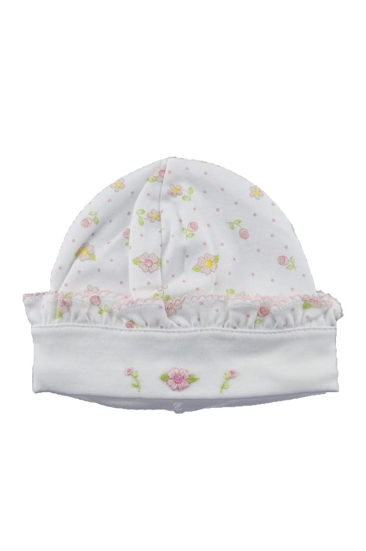 Floral Pink Print Hat - Little Threads Inc. Children's Clothing