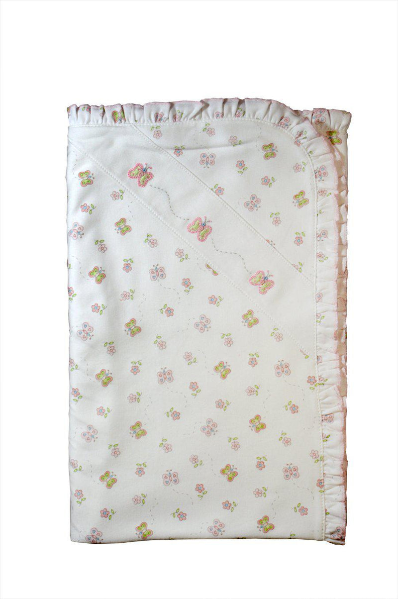 Girl's Butterfly Blanket - Little Threads Inc. Children's Clothing