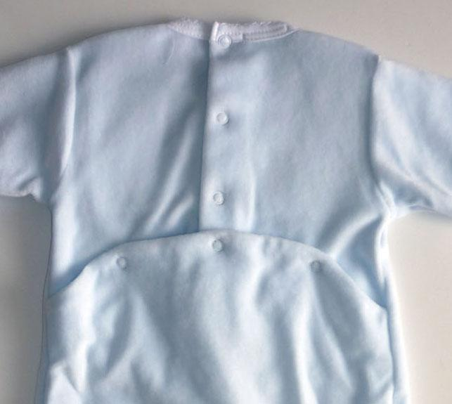 Boys Velour Hand Smocked Footie