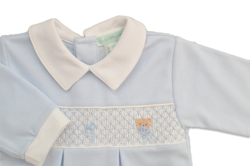 Teddy Bear Boy's Smocked Footie - Little Threads Inc. Children's Clothing