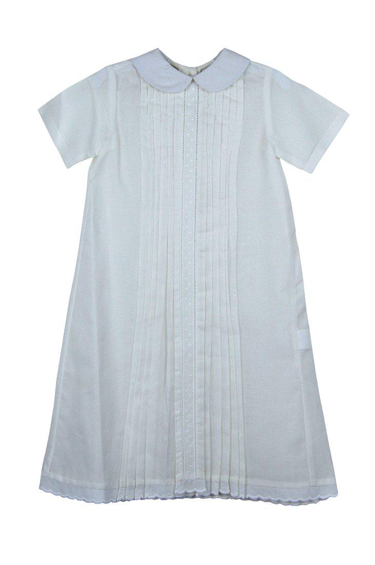 Baby Threads  Unisex White Day Gown - Little Threads Inc. Children's Clothing