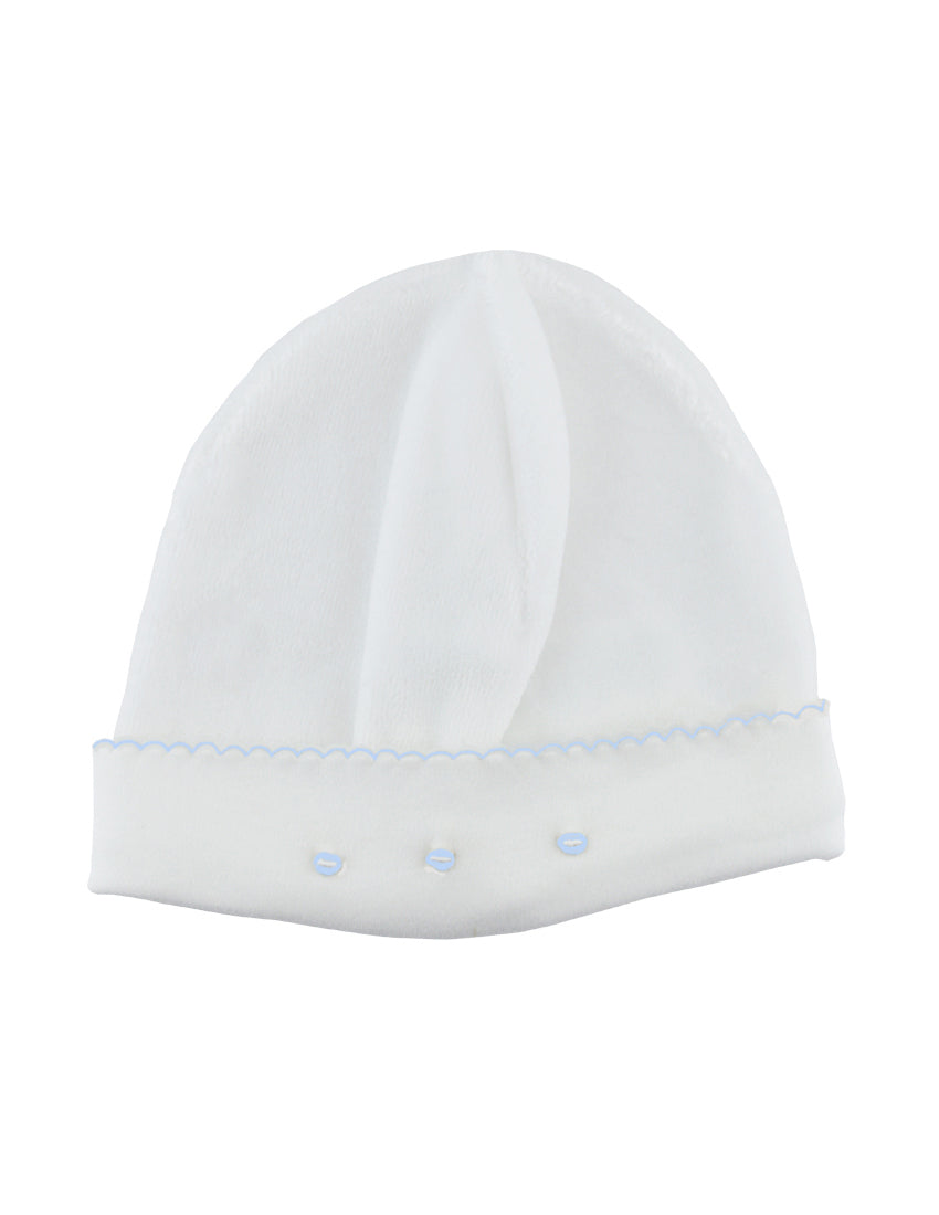 White Ecru Velour Boy Hat - Little Threads Inc. Children's Clothing