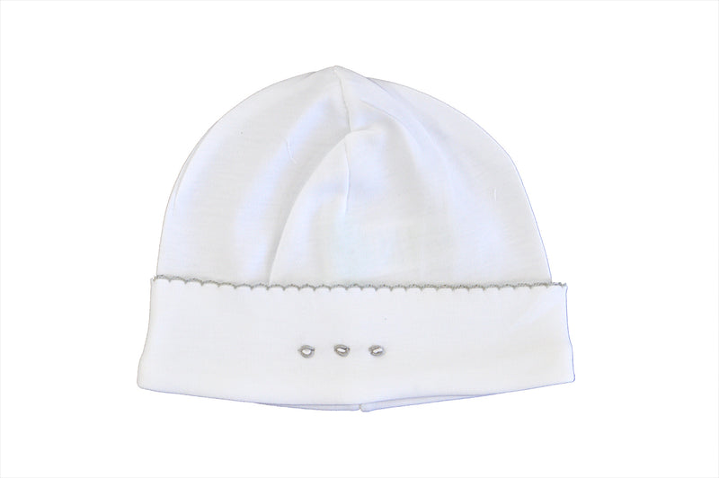 White grey Pima cotton hat