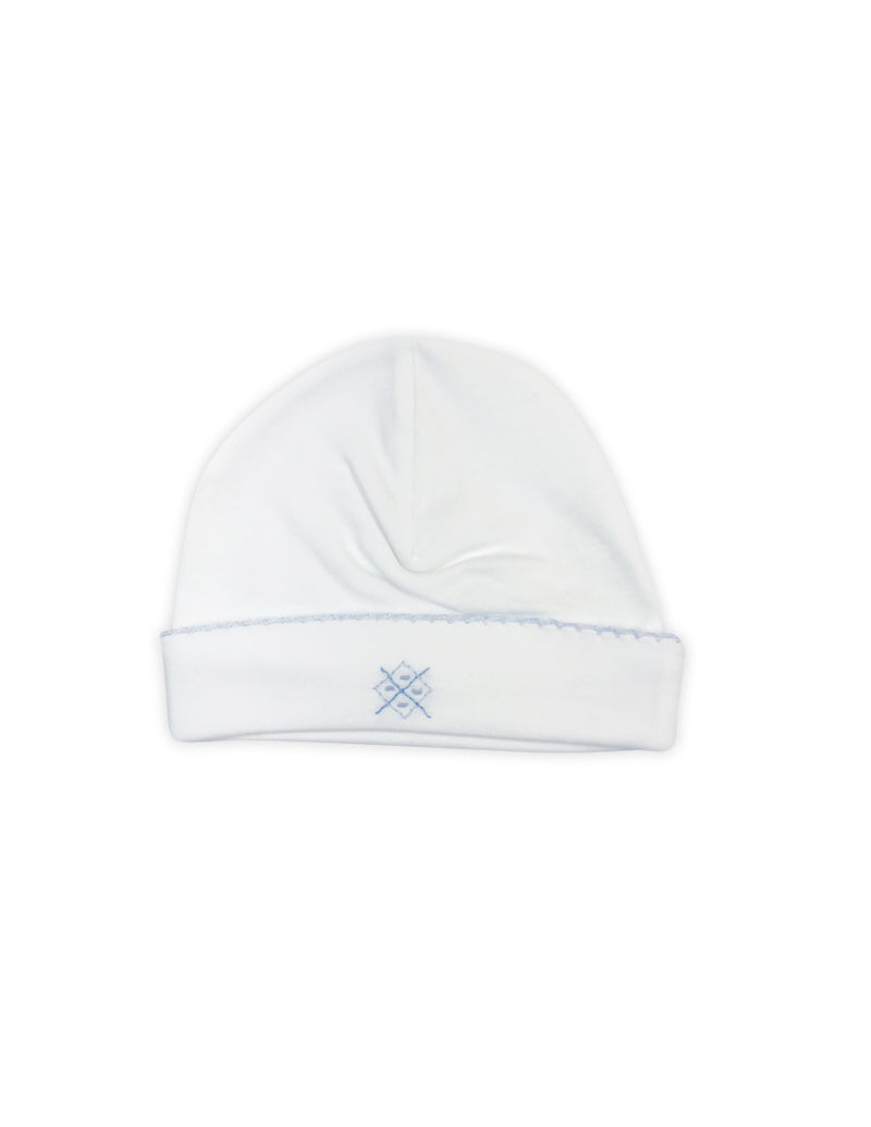 Baby Boy's White Argyle Hat - Little Threads Inc. Children's Clothing