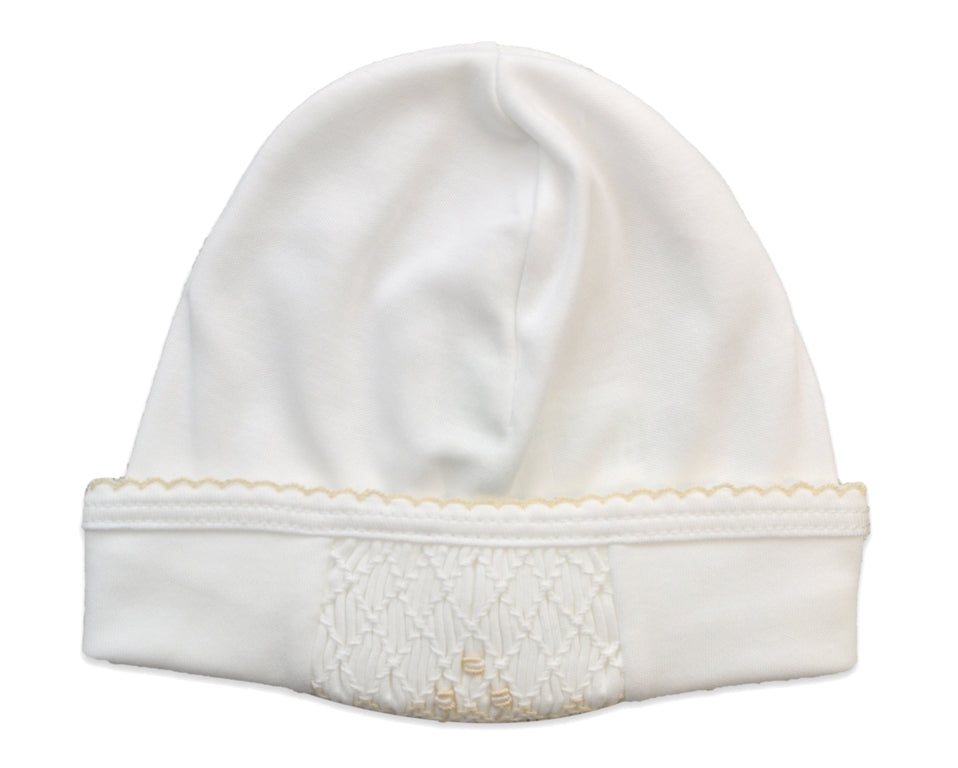 Baby Girl's White Ecru Hat - Little Threads Inc. Children's Clothing