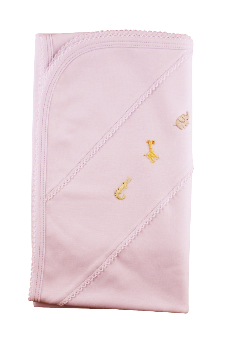 Zoo Pink Blanket - Little Threads Inc. Children's Clothing