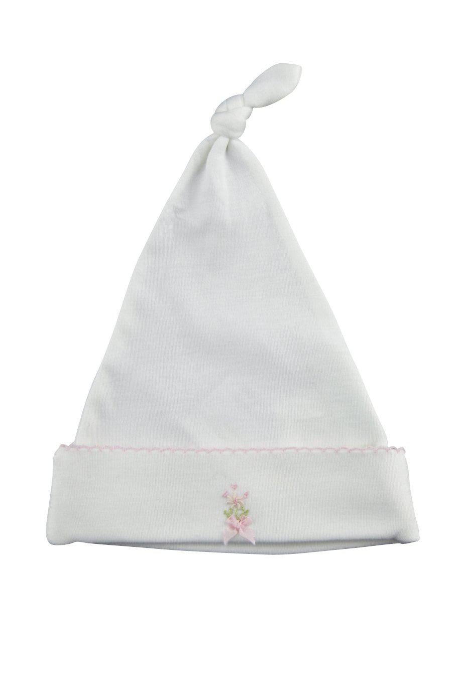 Bows with Flowers Girls Hat - Little Threads Inc. Children's Clothing