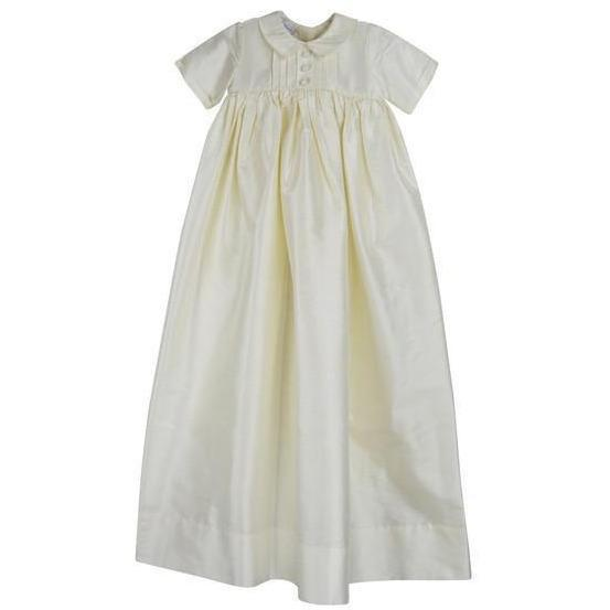 Boys Silk Christening Gown - Little Threads Inc. Children's Clothing