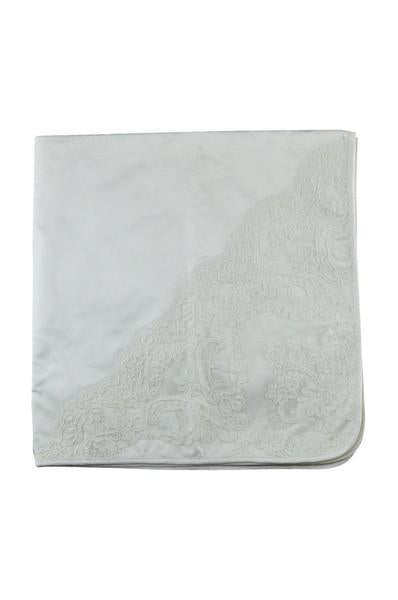 Silk Christening Blanket - Little Threads Inc. Children's Clothing