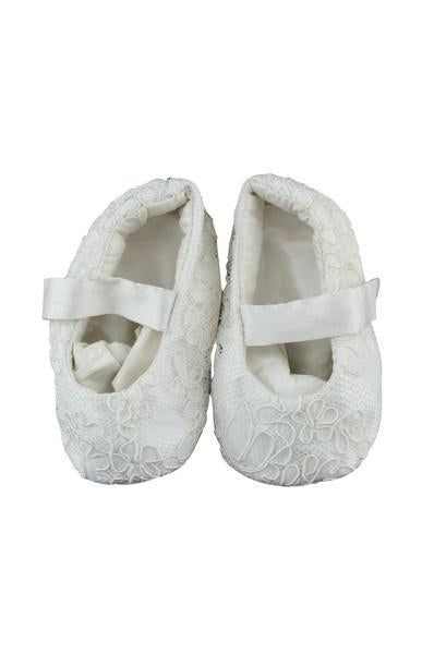 Silk Christening Booties