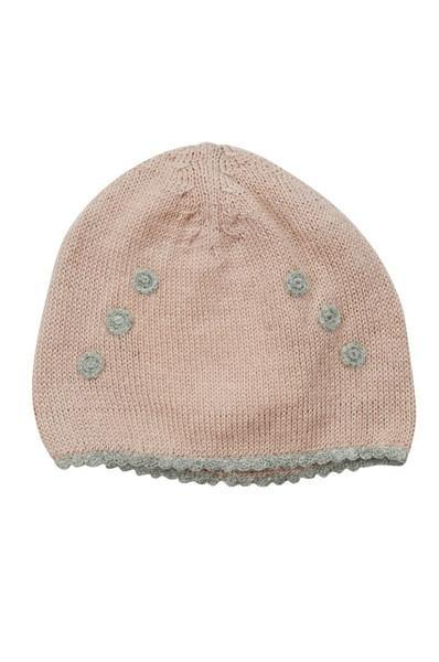 Pink Baby Alpaca Hat with Grey Dots - Little Threads Inc. Children's Clothing