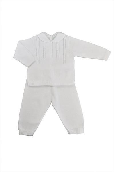 white-pima-cotton-kitted-sweater-pant-set