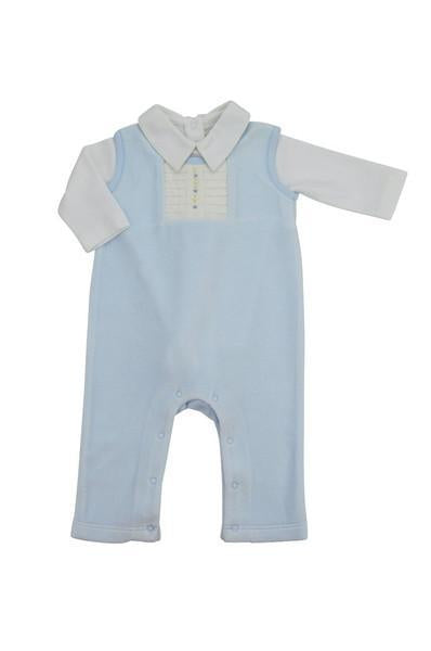 Blue Velour Overall Set - Little Threads Inc. Children's Clothing