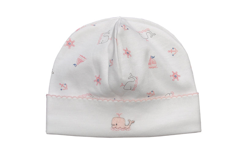Baby Girl's Pink Whale Print Hat - Little Threads Inc. Children's Clothing