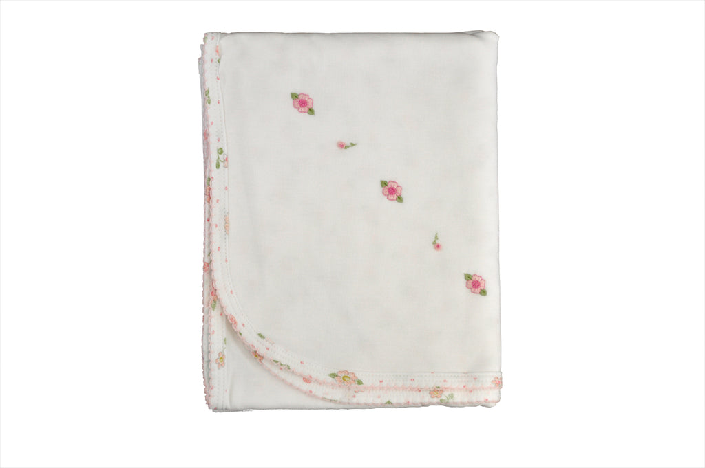 Baby Girl pink floral print blanket - Little Threads Inc. Children's Clothing