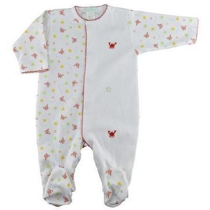 Crab Print Boy's Footie - Little Threads Inc. Children's Clothing